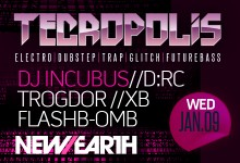 01.09.13 Tecropolis Second Wednesdays at New Earth Music Hall